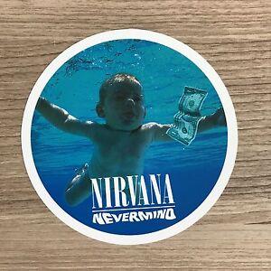 """Nirvana Nevermind 4"""" Wide Vinyl Sticker - BOGO"""