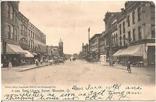 View on East Liberty Street in Wooster OH Postcard 1907
