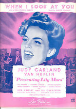 """PRESENTING LILY MARS Sheet Music """"When I Look At You"""" Judy Garland"""