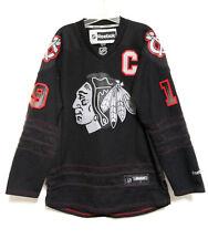 Reebok Chicago Blackhawks Jonathan Toews Black Accelerator Hockey Jersey Men's M