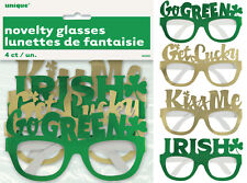 ST PATRICK'S DAY PARTY SUPPLIES 4 PACK NOVELTY GLASSES FOR ST PATRICK'S DAY