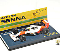 1:43 MINICHAMPS 547904427 Mclaren Ford MP4/5B Senna, Winner Germany Gp 1990