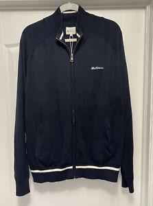 Ben Sherman Men's Track Jacket NWT Cotton Full Zip Navy Size XXL Stripe 2XL RARE