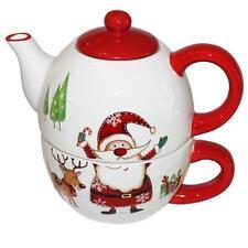 Festive Natale Divertente Tè Per Uno Teiera E TAZZA REGALO-BABBO NATALE