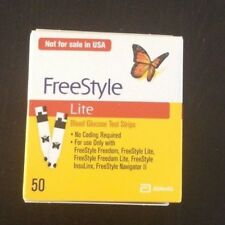 FreeStyle Lite Test Strips 2x50 Brand New Sealed exp 06.2020