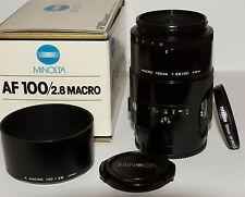 Objectif Minolta AF 100mm MACRO f/2.8  - SONY alpha - SLT- full frame
