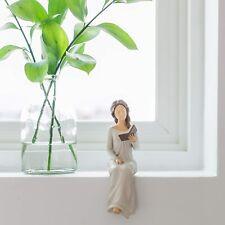 Treasured Moments Book Lover Decorative Woman Reading Shelf Sitter Accent Figure