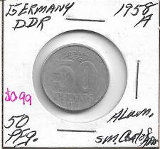 1958 A Germany 50 Pfennig coin