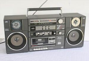 Vintage JVC PC-2 Portable Stereo Cassette Boombox. FM AM Graphic Equalizer 80's