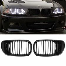 Black Front Hood Kidney Luxury Grill For 02-05 BMW E46 4-oor 318i 320i 323i 325i