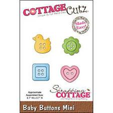 cottagecutz CCMINI132 baby buttons bottoncini carta gomma crepla sizzix big shot
