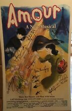 AMOUR Cast Signed Broadway Poster Windowcard RARE