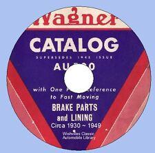 Wagner Lockheed Brakes Parts Catalog  Circa 1930 - 1950 DVD ROM