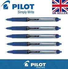 5 X Pilot Hi-Tecpoint V5 RT Tinta Líquida Retráctil Rollerball Azul