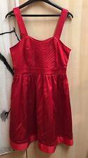 Robe Naf Naf rouge taille 38 en viscose neuf avec l'etiquette