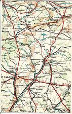 72 41 St-Calais Montmirail Mondoubleau 1924 carte/lin (partie) Savigny Bazoche