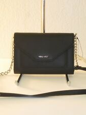 Nine West Black Black Table Treasures Crossbody Wallet Bag $40