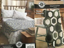 New listing Crochet Knit pattern Loops Threads Impeccable Home Hearth Decor Afghans Blankets