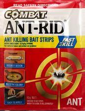 Combat Ant - Rid Killing Bait Strips  10G - 10 Bait Strip Pack  New & Sealed