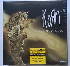 "Korn Limited Edition 7"" Vinyl Freak On A Leash/(Lethal Freak Mix) & Large Tshirt"