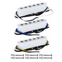 Set of 3PCS Alnico 5 Strat Guitar Pickups Single Coil SSS Pickups White Color
