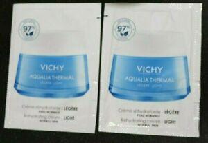 Lot of 2 Vichy Aqualia Thermal Light Rehydrating Cream Normal Skin 2 x 1.5 ml.