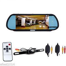 "7"" LCD Screen Car Rear View Backup Monitor+Wireless Reverse Camera Kit"