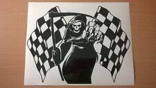 grim reaper front fairing racing race flags motorbike vinyl sticker graphic tt