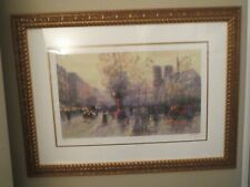 2005 RUE RIVOLY by VALERY GROMOV SERIO-LITHOGRAPH SIGNED #262 OF 295 FRAMED