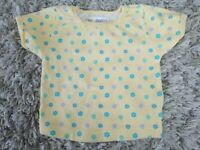 ADORABLE VINTAGE GYMBOREE INFANT BABY GIRL 6-12 MO YELLOW SHIRT W/ FLOWERS