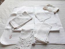 Bundle Vintage French Table Linens Lot Cloths Topper Napkins Set Serviette 3 Lbs
