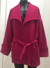 Lisa Ho Jacket 12 Fuschia / Magenta Wool Blend Designer EUC Stunning