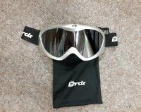 Birdz Ski/ Snowboarding Goggles, Standard Size Frame, Silver, With case