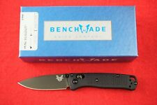BENCHMADE 533BK-1 MINI BUGOUT, CPM-S30V, AXIS LOCK, BLACK HANDLE, NEW IN BOX