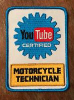YouTube Certified Motorcycle Technician Patch - Mechanic - BUY 3, GET 1 FREE!