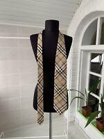 Men's Burberry London 100% Silk Beige Nova Check Necktie with defects