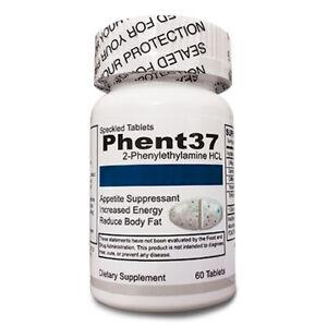 (1) Bottle Phent37 [60 Tablets] Fat Burner Appetite Suppressant
