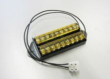 8 Way Terminal Block Bus Bar With 18AWG Power Lead, Splits 1 Input to 8 Out