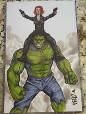 Scott Blair Black Widow/Hulk Art Print 11x17 - Signed