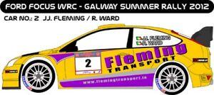 DECALS 1/43 FORD FOCUS WRC - #2 - FLEMING - RALLYE GALWAY SUMMER 2012 - D43157
