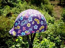 Helmet Cover - Purple with Flowers and Butterflies - MED/Large