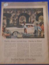 Vintage Original Automobile Advertisement Ad 13 x 10 Ford Edsel Corsair