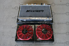 MISHIMOTO 92-96 Prelude Radiator+Fans RED BB2