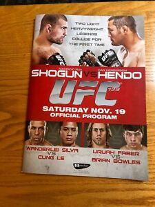 UFC 139 Fight Program with Autographs Arianny + Chandlla Shogun Hendo Main Event