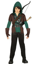 Kids Green Arrow Costume Boys Robin Hood Fancy Dress Outfit Assassin Age 4-12