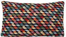 Oriental Woven Cushion Cover Black Green Red Designers B Fabric Rectangular