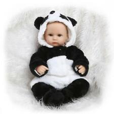 17''42cmLovely Toddler Soft Silicone Reborn Dolls Baby Panda Look Real Xmas Gift