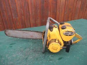 "Vintage McCULLOCH MAC 15 Chainsaw Chain Saw with 23"" Bar"