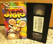 TOPO GIGIO children's puppet show VHS Spanish mouse animation