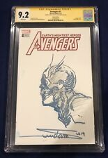 Avengers #1 Sketch Partial Blank Cover CGC 9.2 SIGNED & SKETCH by Arthur Suydam!